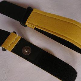 Bandelektrode mit Snap für Feuchtanwendung Größe 20 x 220 mm