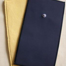Synth. Lederelektrode mit Snap 120×160 mm für Feuchtanwendung