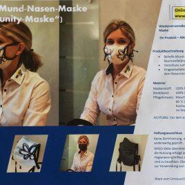 """5 Stück Mehrweg Mund-Nasen-Maske """"Community"""" – sofort lieferbar –"""